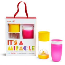 Munchkin Miracle itatópohár Ajándék szett Sárga/Rózsaszín