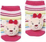 babyFEHN csörgő zokni - Őzike