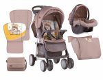 Lorelli Foxy SET sport babakocsi - Beige&Yellow Happy Family 2018