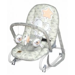 Lorelli Rock Star pihenőszék 0-9kg - Light Grey Elephant 2020