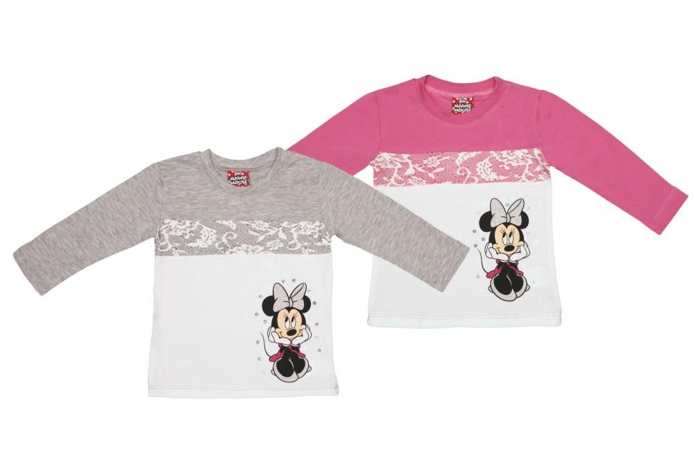 b78bb40859 Disney Minnie hosszú ujjú lányka póló (méret: 80-122) - Pindurka