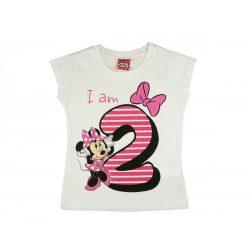 Disney Minnie szülinapos kislány póló 2 éves