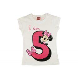 Disney Minnie szülinapos kislány póló 5 éves