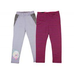 Disney Jégvarázs-Frozen mintás- csíkos lányka páros leggings szett (2db)