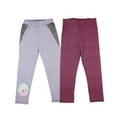 Disney Jégvarázs-Frozen mintás- pöttyös lányka páros leggings szett (2db)