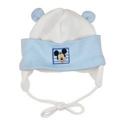 Disney Mickey fülvédős| megkötős baba sapka