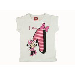 Disney Minnie szülinapos kislány póló 1 éves