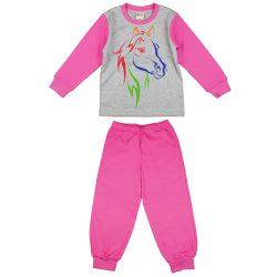 Lovas mintás 2 részes lányka pizsama