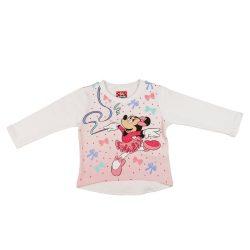 Disney Minnie| belül bolyhos| hosszú ujjú póló (méret: 74-122)