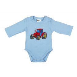 Fiú hosszú ujjú kombidressz kék traktor mintás