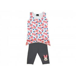 Disney Minnie lányka 2 részes ujjatlan-3/4 leggings szett