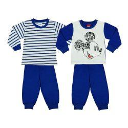 Disney Mickey fiú páros hosszú pizsama szett (2db)