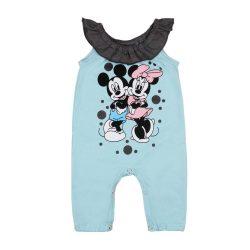 Disney Minnie és Mickey mintás ujjatlan lányka rugdalózó fodros