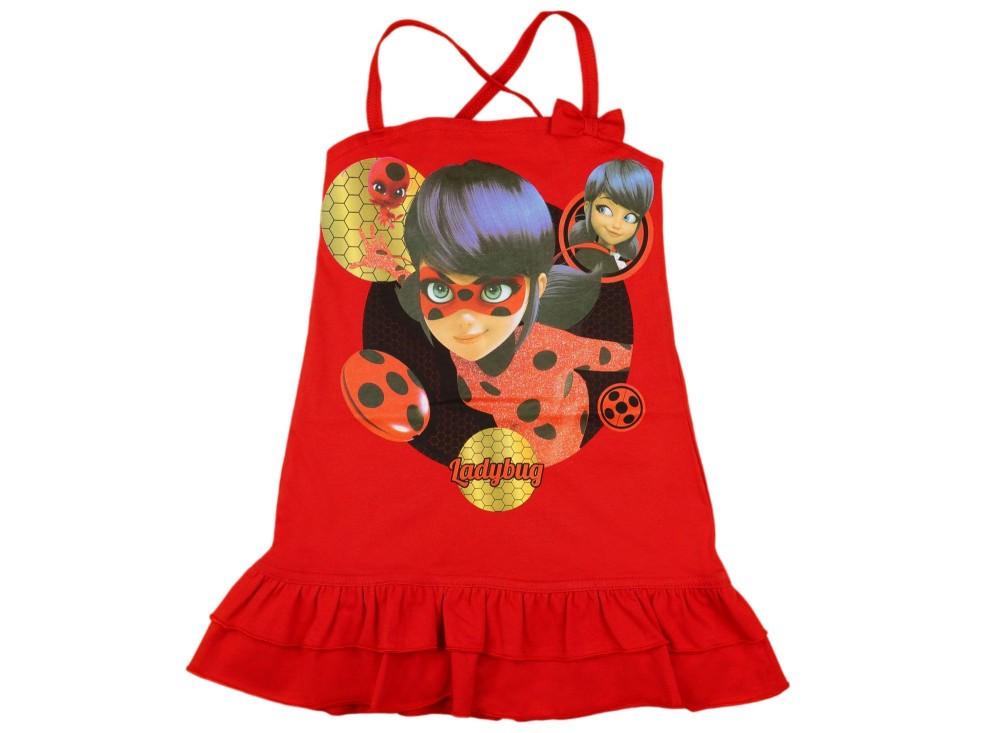 5536e35e01 Miraculous Katicabogár lányka keresztpántos ruha - Pindurka Bababolt ...