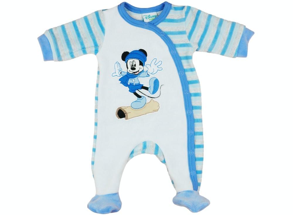Disney Mickey fiú hosszú ujjú plüss rugdalózó elöl patentos ... 714279cd67