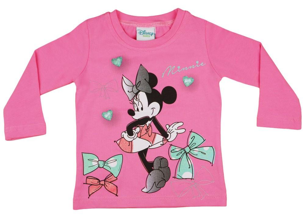 Disney Minnie bébi lányka hosszú ujjú póló masni - Pindurka Bababolt ... f052e50c90