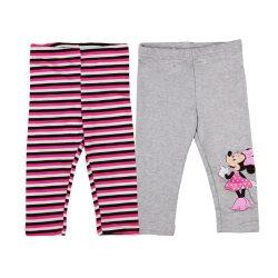 Disney Minnie mintás/csíkos lányka páros leggings szett (2db)