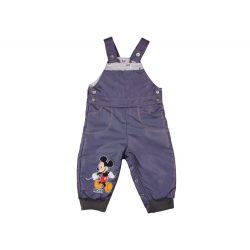 Disney Mickey fiú vízlepergetős| bélelt kertésznadrág