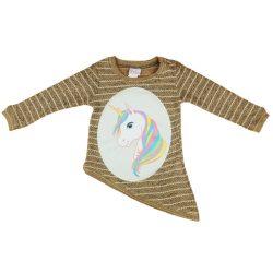 Unikornis lányka kötött pulóver