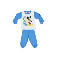 Disney Mickey mintás fiú pizsama felirattal