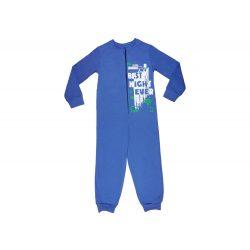 Fiú cipzáras overálos pizsama