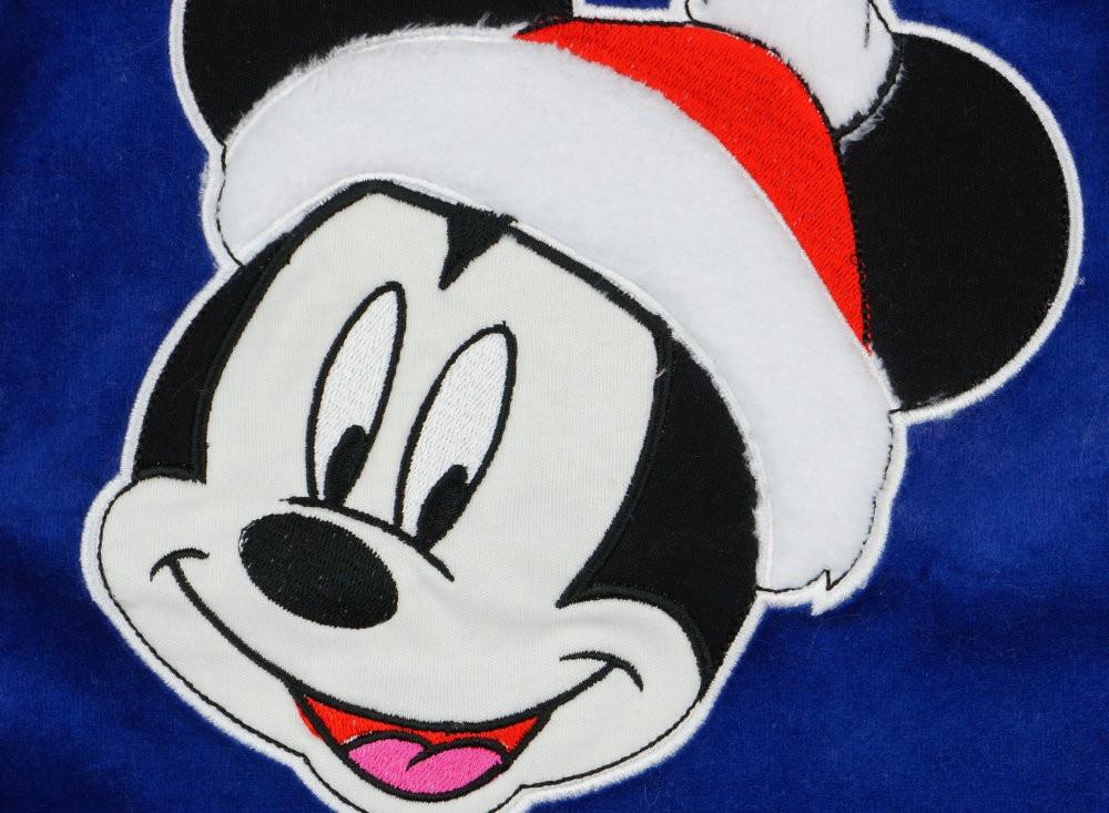 1072950258 Disney Mickey Mikulás hosszú ujjú plüss rugdalózó Karácsony - Pindurka