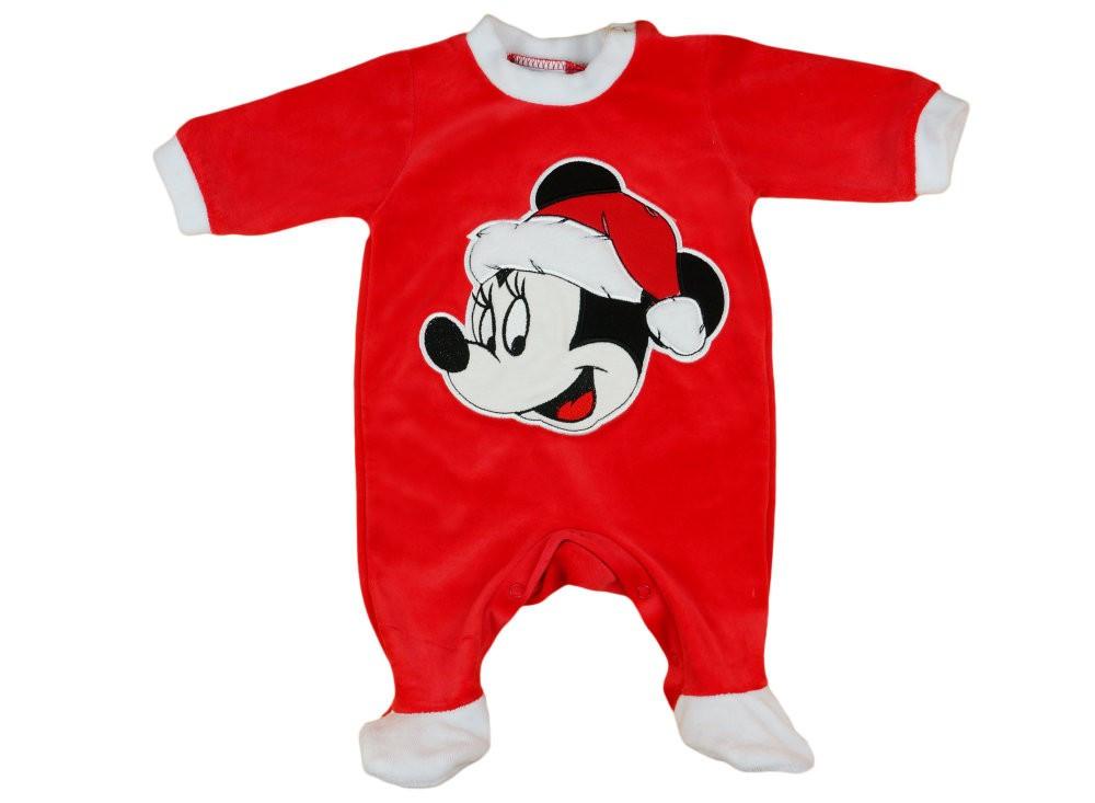 Disney Minnie Mikulás hosszú ujjú plüss rugdalózó Karácsony - Pindurka 10ae45fe7b