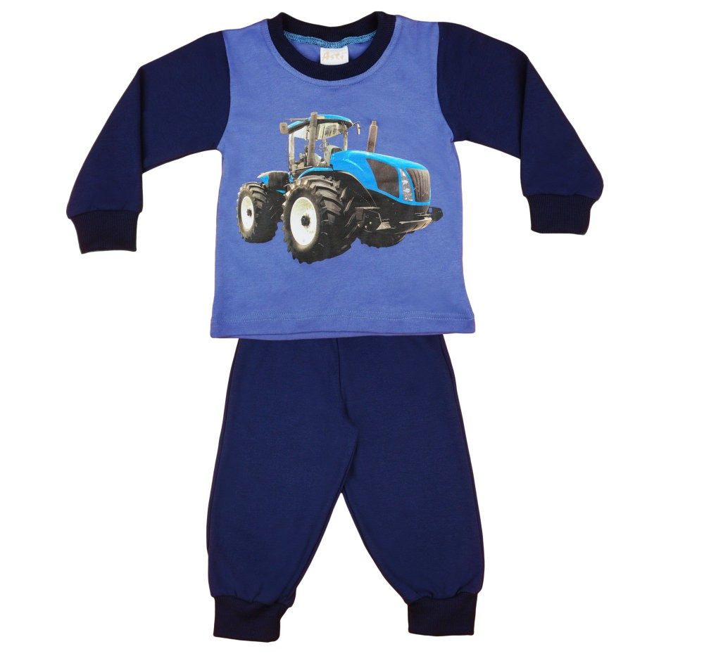 Traktor mintás fiú hosszú pizsama - Pindurka b5e87bef11