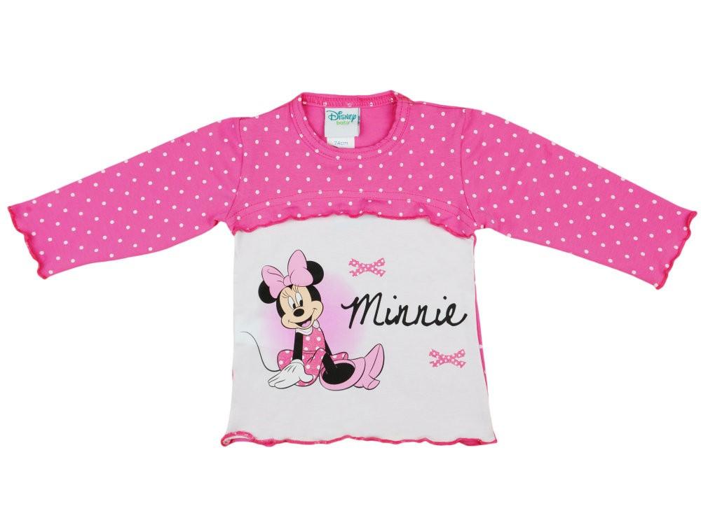 428101ee25 Disney Minnie lányka pöttyös hosszú ujjú póló - Pindurka Bababolt ...