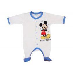 Disney Mickey elöl patentos  belül bolyhos hosszú ujjú rugdalózó