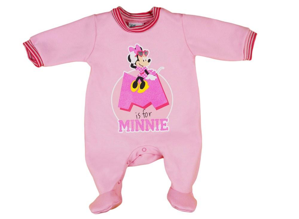 Disney Minnie belül bolyhos hosszú ujjú rugdalózó glitteres ... 70ca3bc1ba