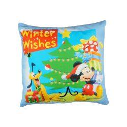 Disney Mickey és Plútó wellsoft/pamut díszpárna Karácsony