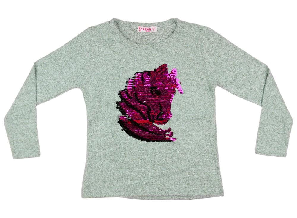 Lányka pulóver átsimítós flitteres Unikornis (TUR) - Pindurka e050b86a51