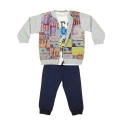 Fiú 3 részes szabadidő szett pólóval (TUR)