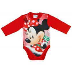 Disney Minnie Mikulás mintás hosszú ujjú karácsonyi body| kombidressz