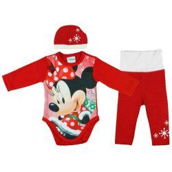 Disney Minnie 3 részes (sapka+nadrág+body) szett Karácsony