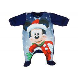 Disney Mickey Mikulás belül bolyhos hosszú ujjú rugdalózó Karácsony