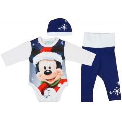 Disney Mickey 3 részes (sapka+nadrág+body) szett Karácsony