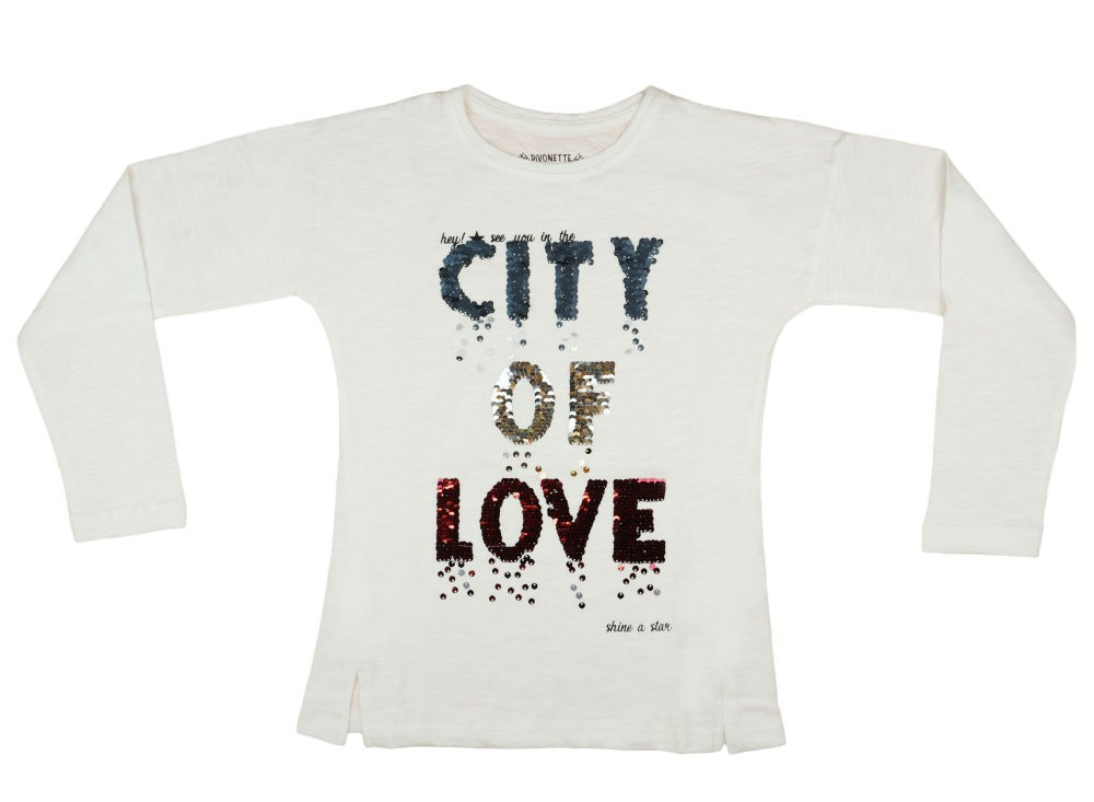 Lányka hosszú ujjú póló City of Love (TUR) - Pindurka dff1153b50
