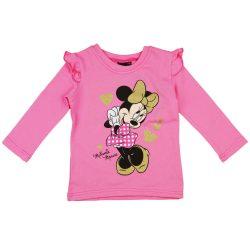 Disney Minnie mintás| fodros vállú| hosszú ujjú lányka póló