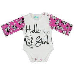 Disney Minnie mintás lányka hosszú ujjú kombidressz Hello Girl!