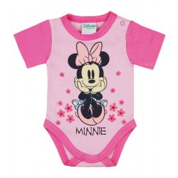 Disney Minnie Love rövid ujjú baba body rózsaszín