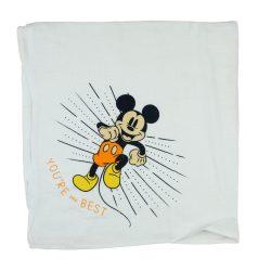 Disney Mickey mintás-feliratos textil pelenka 70x70cm