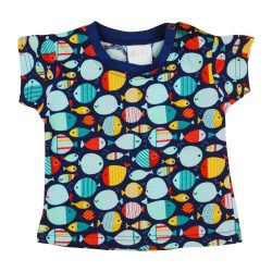 Halacska mintás baba rövid ujjú póló