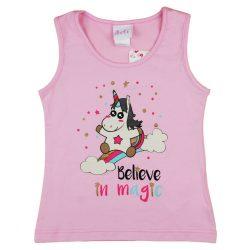 Unikornis kislány csillámos nyári trikó