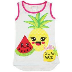 Lányka trikó nyári gyümölcs mintákkal