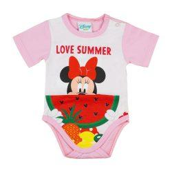 Disney Minnie kislány body (kombidressz) Dinnyés fehér
