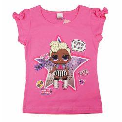 LOL világos pink| kislány rövid ujjú póló