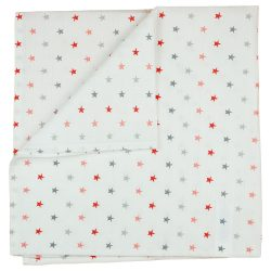 Textil tetra pelenka 75x75 cm - piros csillagos