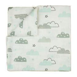 Tetra textil baba kifogó 150x150 cm - felhős